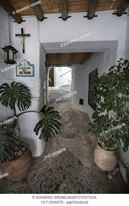 Hideouts of Frigiliana. Passageway. Frigiliana, Andalusia, Spain, Europe
