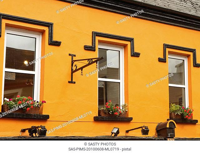 Windows of a building, Kenmare, County Kerry, Republic of Ireland