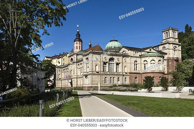 View of the old famous Friedrichsbad-Baden-Baden, Baden Wuerttemberg Germany