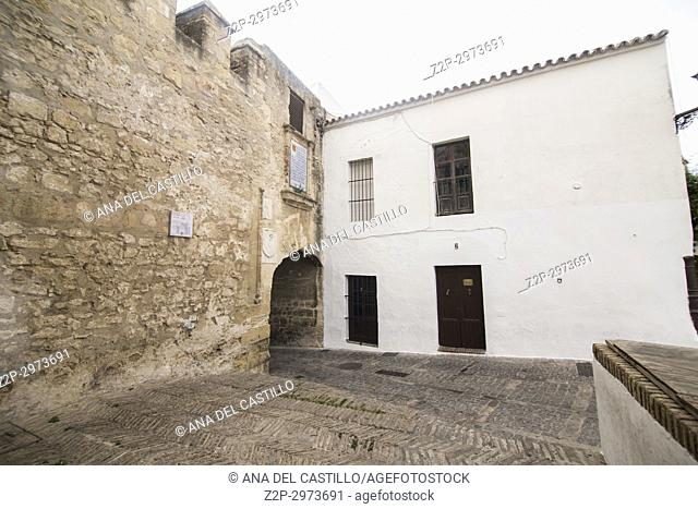 Vejer de la Frontera white village in Cadiz province, Andalusia, Spain. Castle walls