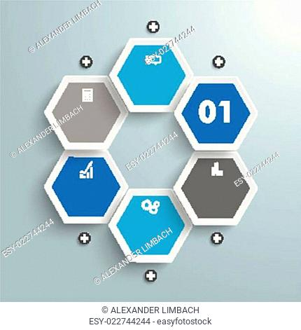 Hexagon Business Infographic PiAd