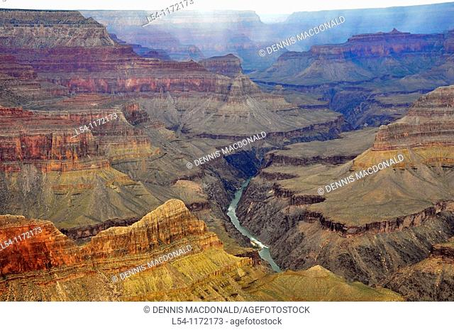 View of Colorado River at Mohave Point Grand Canyon National Park Arizona