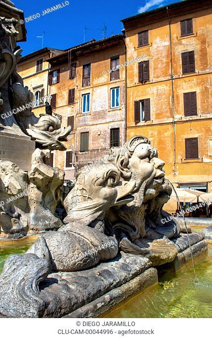Fountain of Four Rivers, Navona Square, Rome, Lazio, Italy, Western Europe