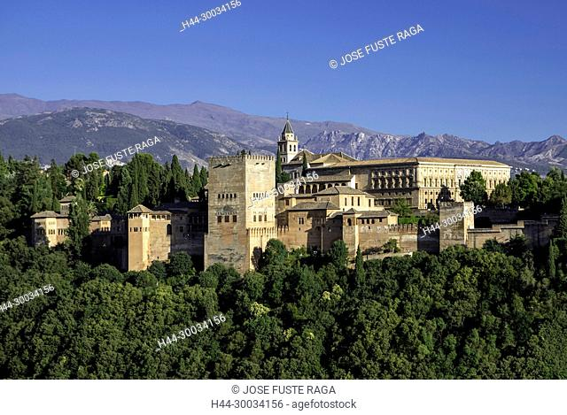 Spain, Andalucia, Granada City, The Alhambra, UNESCO (W.H.)