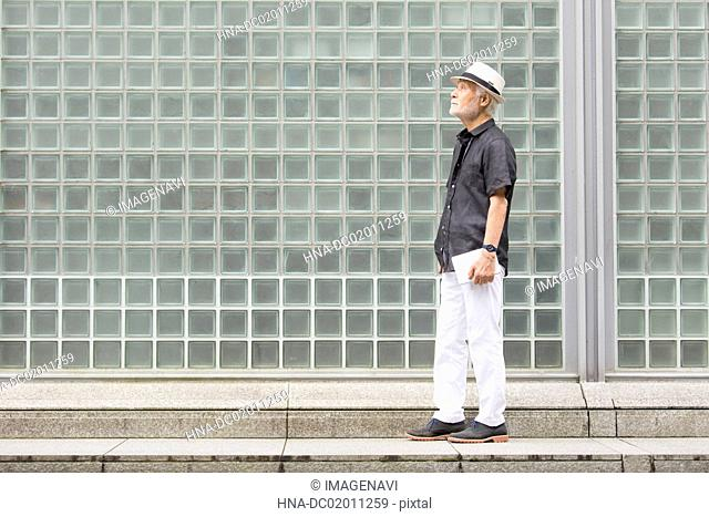 Senior man with hat