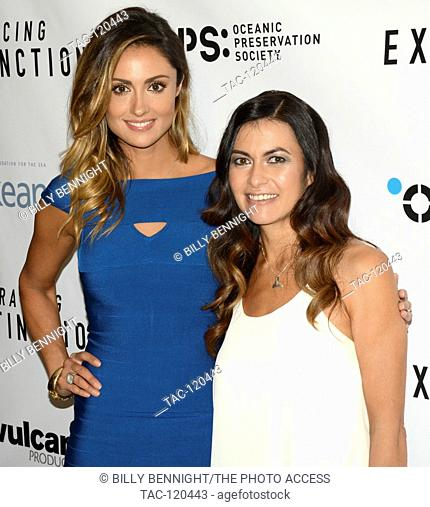 """Katie Cleary and Leilani Munter arrives at the Los Angeles premiere of the Discovery Channel's """"""""Racing Extinction"""""""" in West Hollywood"""