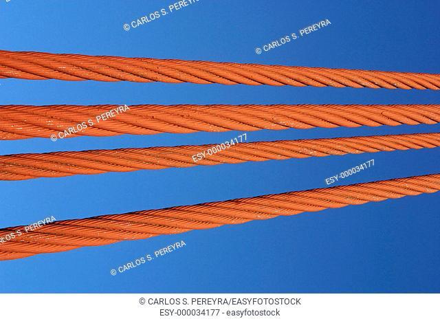 Golden Gate bridge cables. San Francisco. California, USA