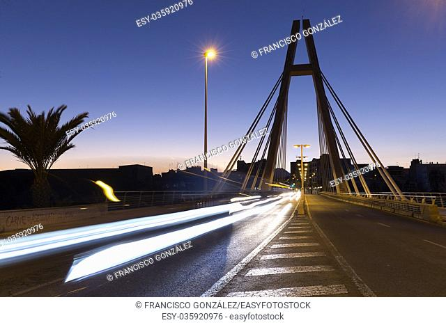 Elche, Spain. September 12, 2017: Sunset at Bridge of the Generality in Elche, province of Alicante in Spain