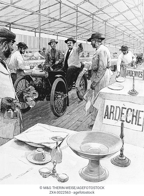 Mayors banquet on September 22, Picture from the French weekly newspaper l'Illustration, 29th September 1900