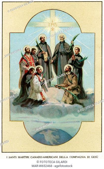 SANTI MARTIRI Canado-Americani della Compagnia di Gesù, missionari francesi tra gli Uroni, uccisi dagli Irochesi fra il 1642 e il 1649 nel corso di diverse...