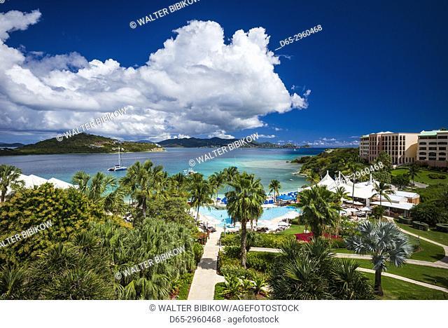 U. S. Virgin Islands, St. Thomas, Great Bay, The Ritz Carlton St. Thomas, elevated view