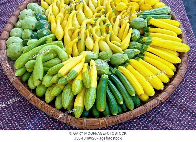 Organic squash at Farmers' Market, Arcata, California