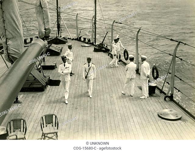 Prince of Piedmont in Africa and Palestine Travel: Red Sea, Prince Umbertoat the time of board walking