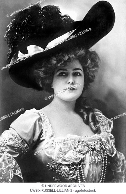 New York, New York: c. 1905.A Rotograph of actress Lillian Russell. It is Image # B-248 in the Series