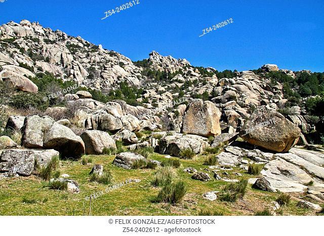La Pedriza, Reginal Park of the Hight River basin of Manzanares, Guadarrama mountain range, Madrid, Spain