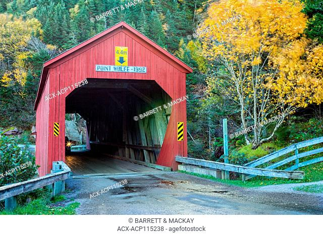 Point Wolfe Covered Bridge, Fundy National Park, New Brunswick, Canada