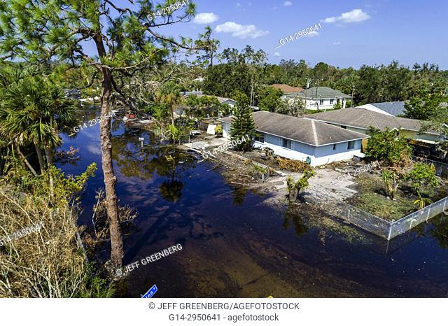 Florida, Bonita Beach, Chapman Avenue Quinn Street, flooding, Hurricane Irma
