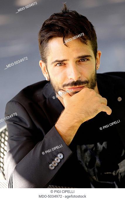Actor Marco Bocci (Marco Bocciolini) in the Villa Borghese park. Rome, Italy. 17th August 2014
