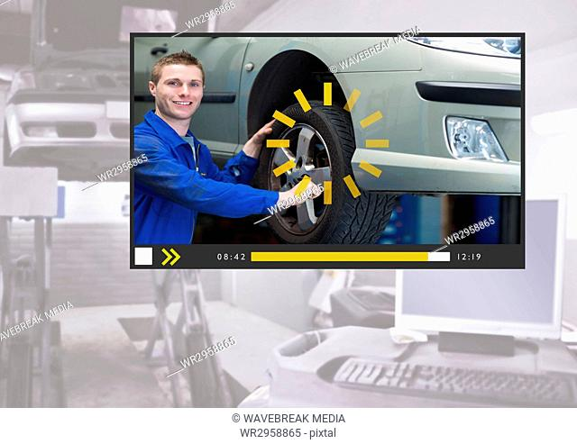 Auto Mechanic Video Player App Interface