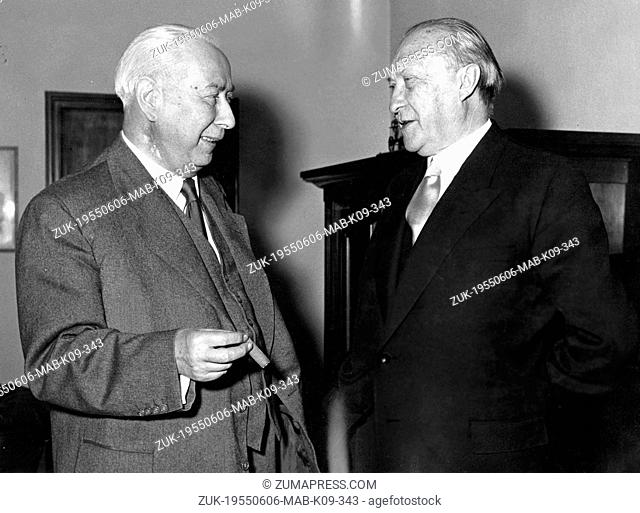 June 6, 1955 - Bonn, Germany - West Germany's first chancellor KONRAD ADENAUER began his career in politics as a member of the Cologne City Council