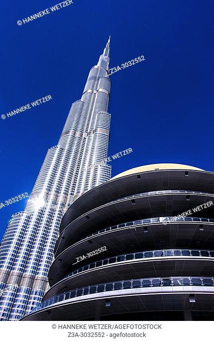 The Burj Khalifa and the Dubai Mall in Dubai