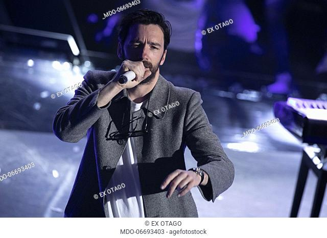 Ex Otago during the episode of Domenica In dedicated to 69th Sanremo Music Festival. Sanremo (Italy), February 10th, 2019