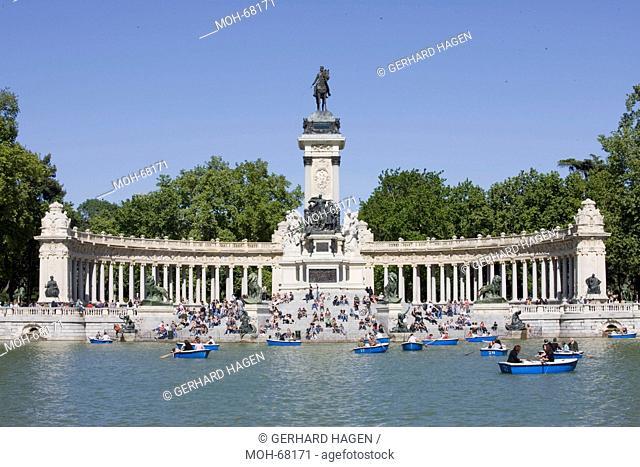 See im Retiro Park, Estanques, Monument Alfons XII