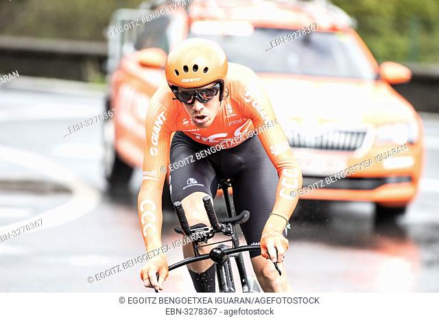 Alessandro de Marchi at Zumarraga, at the first stage of Itzulia, Basque Country Tour. Cycling Time Trial race
