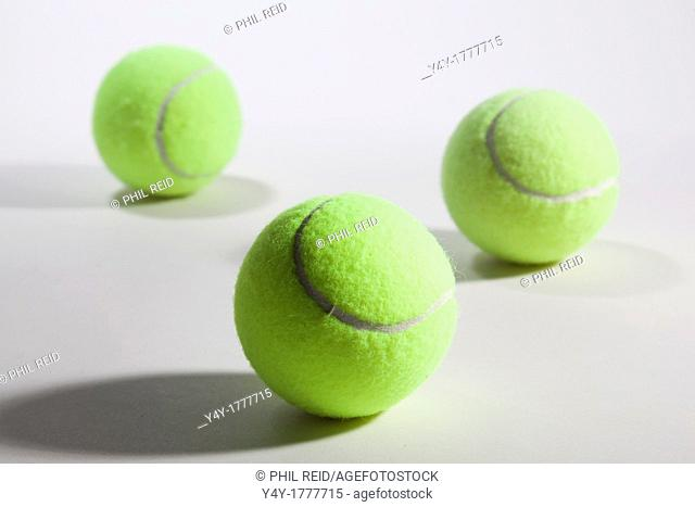 Tennis balls on white background