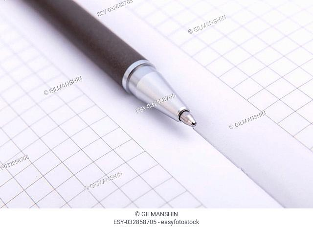 Close-up of ballpoint Focus on tip