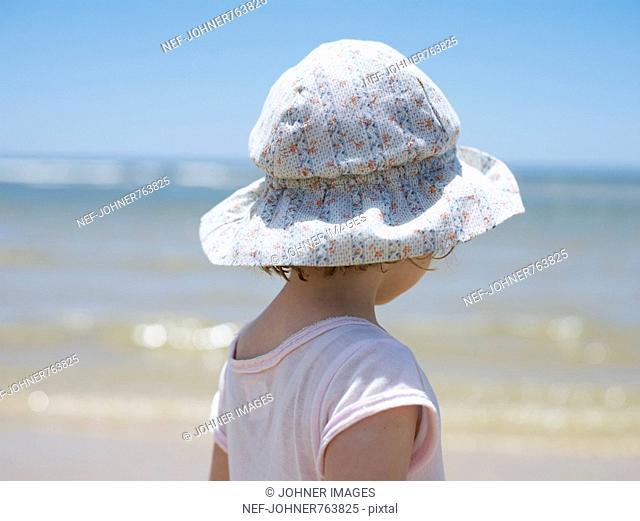 Girl on a beach, Portugal