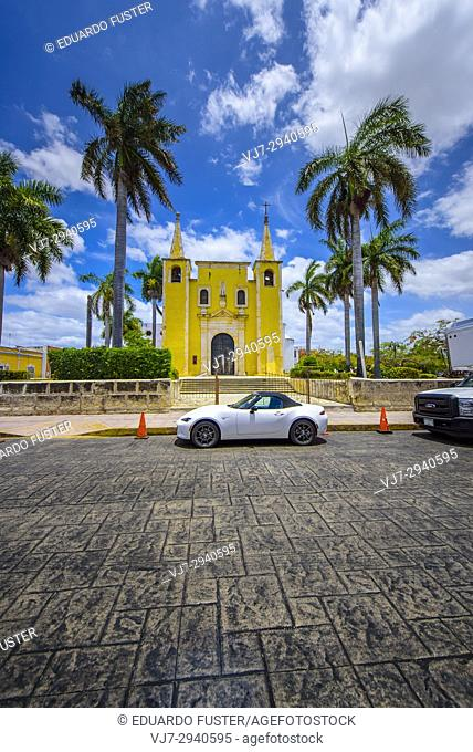 Templo de Santa Ana, Colonial church in Merida, Yucatan (Mexico, Central America)