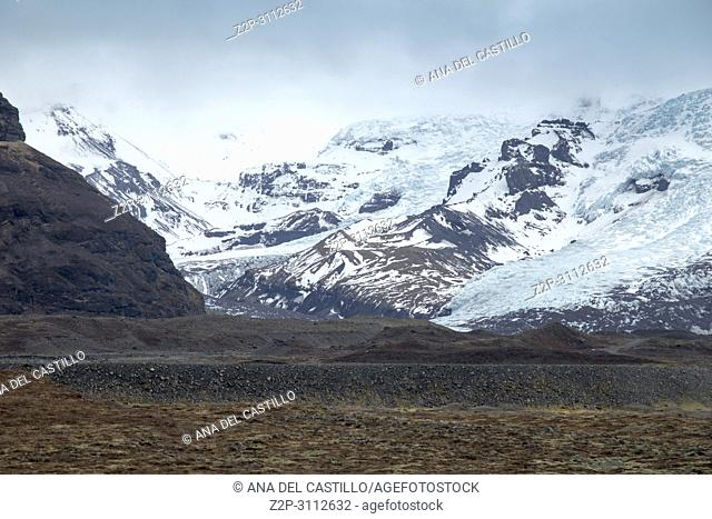 Icelandic landscape in winter