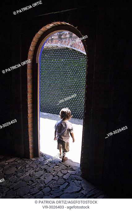 Boy going out, Guanajuato State, MEXICO