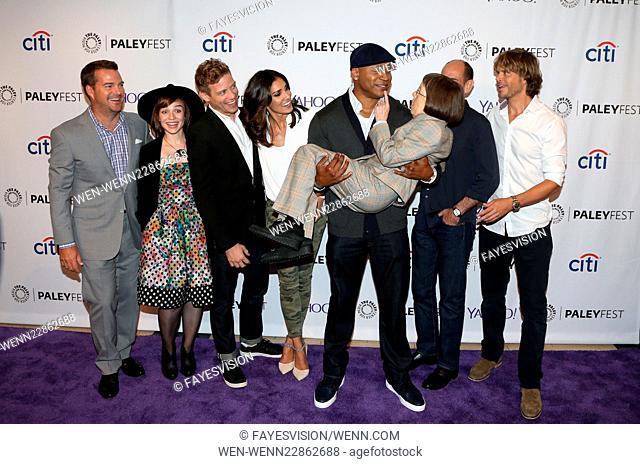 PaleyFest Special Event: 'NCIS: Los Angeles' Fall Premiere - Arrivals Featuring: Chris O'Donnell, Renée Felice Smith, Barrett Foa, Daniela Ruah, LL Cool J