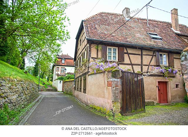 France, the picturesque city of Wissembourg in Alsace, on May 21, 2016.