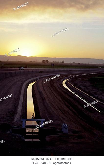 Calexico, California - Canals bring water from the Colorado River to irrigate the Imperial Valley
