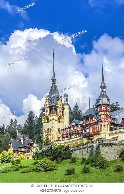 Romania, Prahova, Sinaia City, Peles Castle,