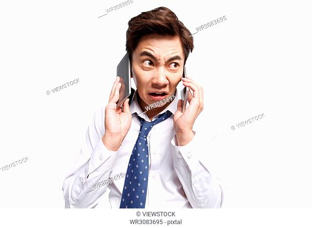 Business young man called