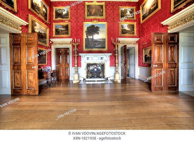 The Landscape Room, Holkham Hall, Norfolk, England, UK