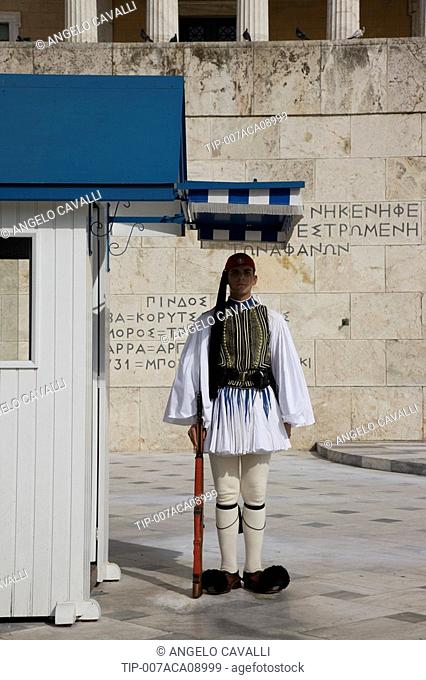 Greece, Athens, the parliament guard