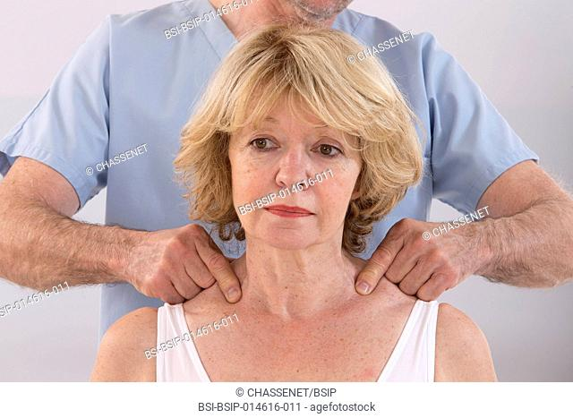 Senior woman receiving massage