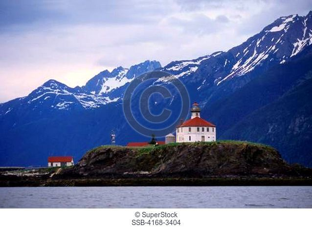 Usa, Alaska, Inside Passage, Lynn Canal, Eldred Rock Lighthouse