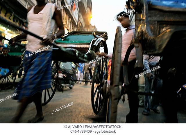 Rickshaws, Kolkata, India, Ganges River