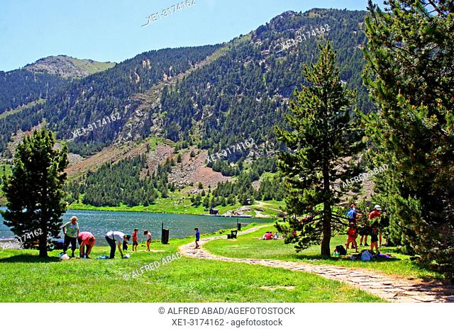 reservoir and recreation area, Vall de Nuria, Girona, Catalonia, Spain