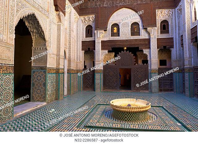 Madrassa Bou Inania, Meknes, UNESCO World Heritage Site, Medersa Bou Inania , Morocco, Maghreb, North Africa