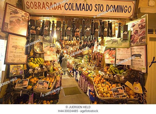 Mallorca, Palma de Mallorca, historic center, Sobrasada Colmado Sto. Domingo, delicatessen shop