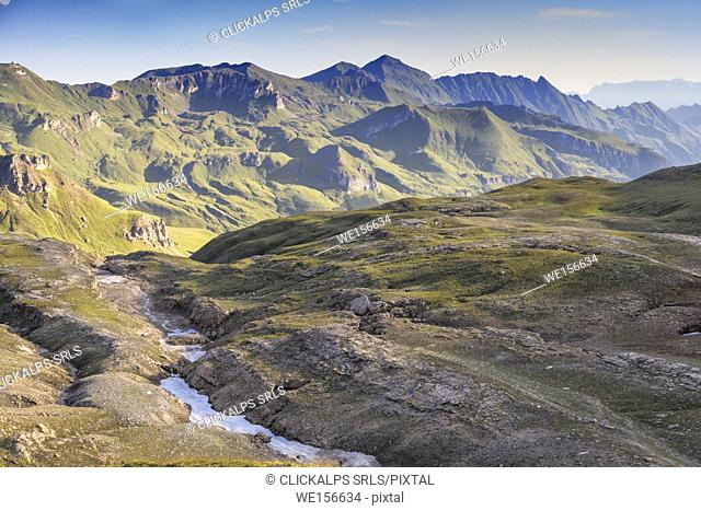 View towards north from Hochtor, Grossglockner High Alpine road, Hohe Tauern National park, Austria