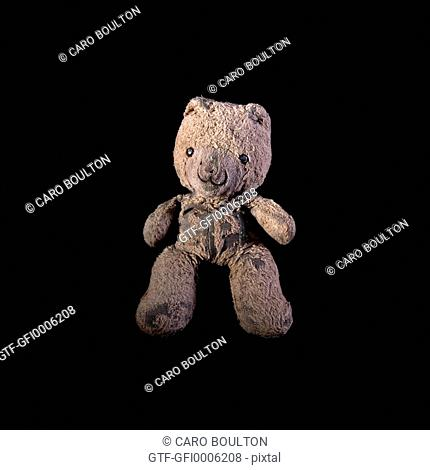 Teddy Bear Against Black Background