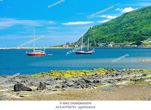 Sailboats on the Gulf of St. Lawrence (Gaspe Peninsula) Mont Louis Quebec Canada